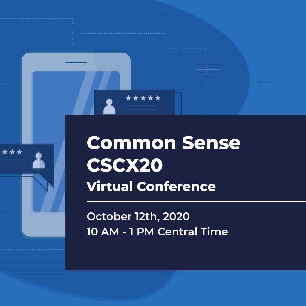 Common Sense Customer Experience Virtual Conference 2020